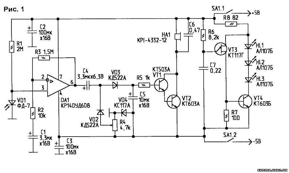 Приемный фотодиод ИК-сигнала