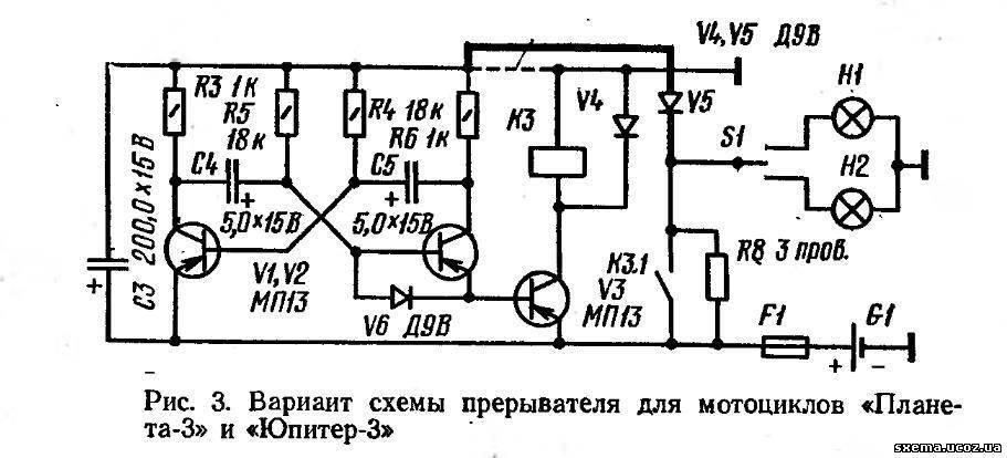 Штриховыми линиями показаны