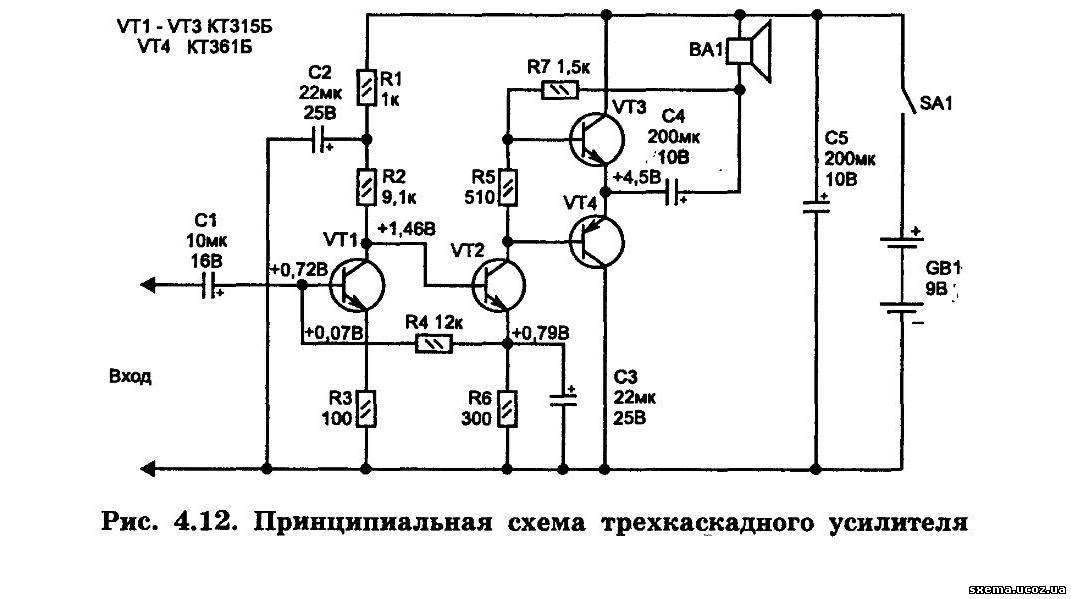 Усилитель мощности звука своими руками на одном транзисторе