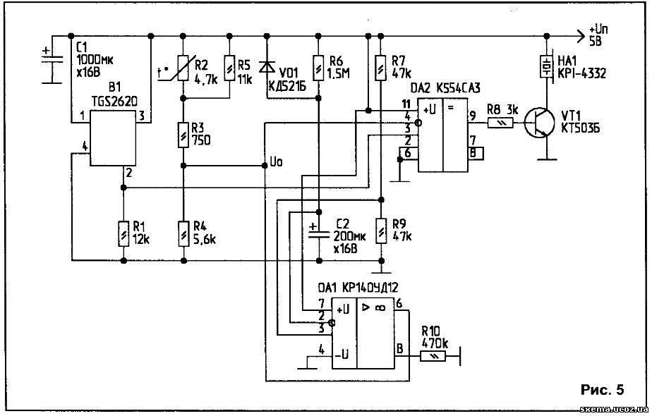 для нагревателя датчика В1