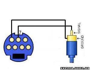Схема переходника с s-video на RCA