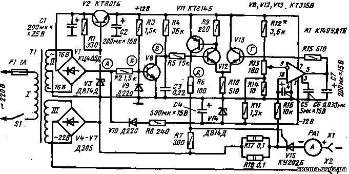 1 приведена схема зарядного